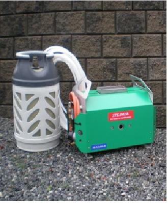 Steamapparat med propan til tining av rør